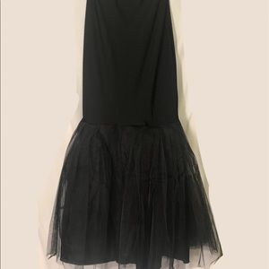 Black hoopless mermaid/trumpet slip/petticoat